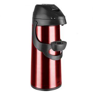 Emsa 502485 Pump-Isolierkanne, 1,9 Liter, Edelstahl, Rot, Pronto