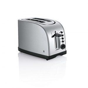 WMF STELIO Toaster, Stiftung Warentest GUT, Brötchenaufsatz, 7 Bräunungsstufen, cromargan matt/silber