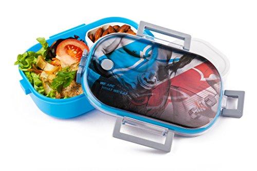 LunchBox Sportliches Design Artic® - Dichter Behälter für Essen - der Perfekte Brotdose für Ihre Fitness Ernährung Gesunde Lebensweise