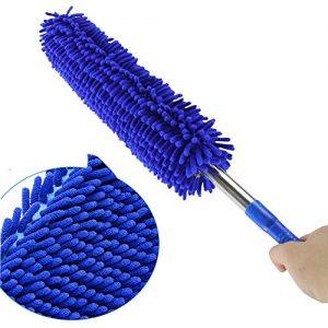 Boonor Duster Staubwischer einziehbare,Ausziehbarer Mikrofaser Staubwedel,Staubbesen Staubwedel Staubentfernung Duster blau