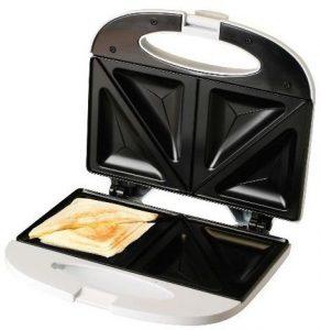 Evertoast Sandwichtoaster / Sandwichmaker mit Antihaftbeschichtung, Toaster mit 800 W Leistung, weiss