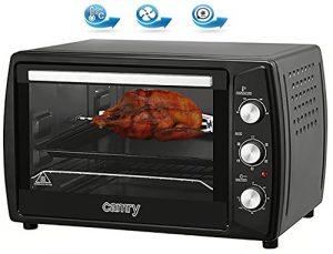 63 Liter Backofen mit Drehspieß Umluft Timer Mini Ofen 2200 Watt (Schwarz)