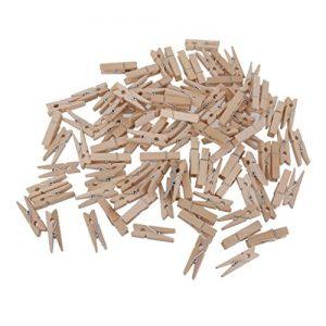 100 X Mini Holzklammern Deko Klammern Wäscheklammern Zierklammern Ver. Größe – 30*4mm