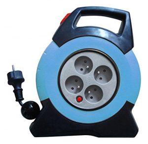 Enexo, Aufrollautomatik Automatik Ratschenspanngurt Ratsche Gurt Ratschengurte -Nf automatische Kabelaufroller-Cable 15 M Kunststoffmantelleitung HO5 VV-F 3G1mm