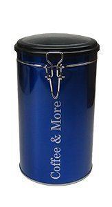 Kaffeedose blau mit Aromasichtdeckel