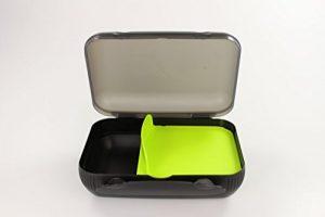 TUPPERWARE Lunch-Box limette mit Trennung Brotbox To Go Sandwich schwarz 14856