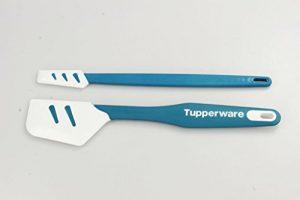 TUPPERWARE Griffbereit Top-Schaber D167 Silikon+ kleiner Top-Schaber blau-weiß 16290