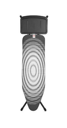 Brabantia Bügelbrett mit Ablage für Dampfbügelstationen, Größe B, Normal Titan Oval, Limited Edition