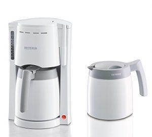 Severin KA 9233 Kaffeeautomat mit 2 Thermokannen, weiß / grau