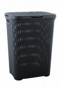 Curver 00707-308-01 Wäschebox Style, 60 L, anthrazit
