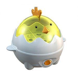 Eierkocher – Ourmall Multifunktions-Eierkocher, Eierkocher Wilderer, Gebäck Dampfgarer 7 Eier Kapazität mit CE, Rohs Bescheinigung (Gelb)
