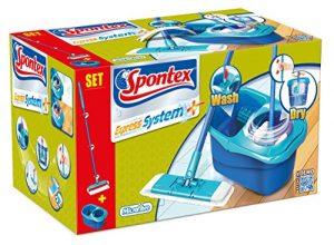 Spontex Express System+, 1 Stück-Bodenwischer-Set mit Rotation schnell & einfach