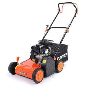 FUXTEC Benzin Vertikutierer BV138 (1,72 kW, 87ccm, 38 cm Arbeitsbreite, 40 l Fangsack, empfohlen für noch gesünderen Rasen