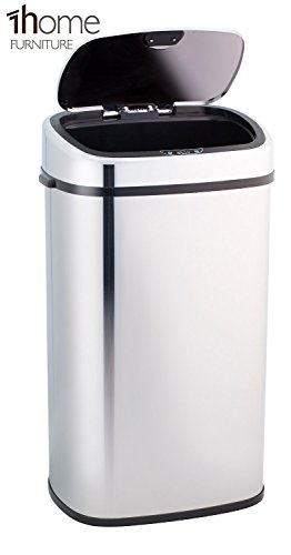 1home Infrarot Küchenabfälle Mülleimer Abfalleimer Automatisch  Abfallsammler Kücheneimer Automatik Abfallbehälter Sensor Abfall Papierkorb  Mit Hand ...