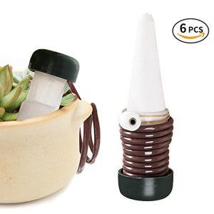 Bewässerung Wasserspender, innislink Bewässerung Set Pflanzen Wasserspender Blumengießer Tropfer, 6 Stück