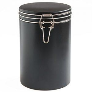 Kaffee Vorratsdose schwarz mit Bügel-Verschluss