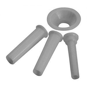Westmark  Wurstfülltrichter-Set, 4-tlg., Durchmesser: 1/1,5/2 cm, Zubehör für Westmark Fleischwolf 97502260/Gr. 5, Kunststoff, Weiß, 14932230