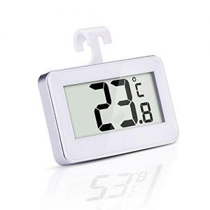 Kühlschrank-Thermometer, SUPLONG digitale wasserdichte Kühlschrank mit Gefrierfach Thermometer mit gut lesbarem LCD-Anzeige Lesen Perfekt für Innen / Außen / Home / Restaurants / Bars / Cafés