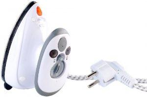 Sichler Haushaltsgeräte Reise-Dampfbügeleisen für Reise & Urlaub, 230 V & 110 V
