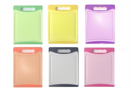 Schneidbrett SET 6 tlg. antibakteriell, 20 x 15 x 0,8 cm, beidseitig verwendbar, 6 Farben