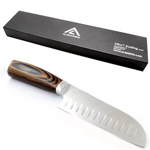 ALBARGO – Chef-Kochmesser, das edle Multifunktionskochmesser- Küchenmesser – Allzweckmesser – Profiküchenmesser mit vielseitigen Einsatzmöglichkeiten inklusive Geschenkverpackung