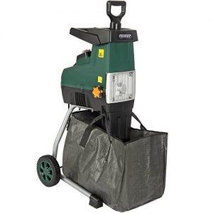 Elektrischer Gartenhäcksler 2800W max. 44mm Aststärke mit Auffangbeutel 60L Schredder Leisehäcksler Häcksler Holzhäcksler