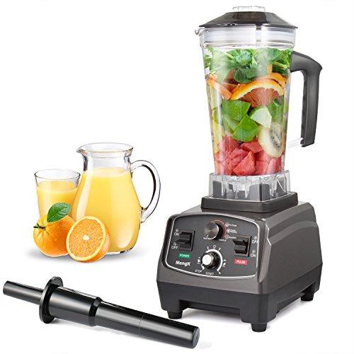 Standmixer MengK Profi Smoothie Maker Power Mixer Gewerbe / Küche Blender Ice Crusher mit 25.000 U/min, 1400W, BPA-FREI 2 Liter Ideal für Smoothies, Suppen, Eiscreme, Rohkost und Milchshakes (6 Edelstahlmesser)