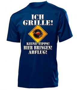 BBQ – ICH GRILLE – KEINE TIPPS – BIER BRINGEN – ABFLUG 4647(H-N) Gr. XL