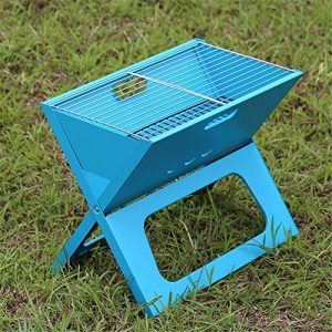 HomJo Barbecue Grill Outdoor Barbecue Grill Portable Folding Camping Patio Garten Holzkohle Ofen Haushalt BBQ Grills Burn Ofen Herd , 7
