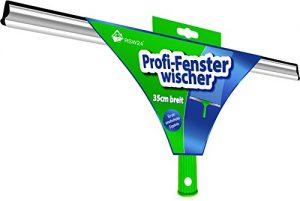RSW24® Fensterwischer / Duschabzieher 35cm in Grün für streifenfreie Scheiben