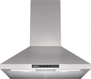 Siemens LC64WA521 iQ100 Kaminhaube / 60 cm / Die Lüfterleistung von 400 m3/h sorgt für frische Luft beim Kochen / Edelstahl