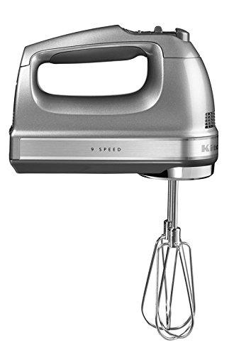 KitchenAid 5KHM9212ECU, Artisan Handrührer mit 9 Geschwindigkeitsstufen, Contur-Silber
