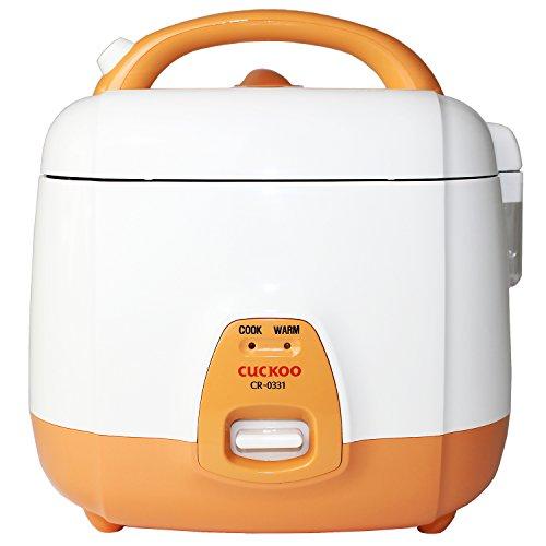 Cuckoo CR-0331 elektrischer Reiskocher mit langer Lebensdauer, 0,54l für 1-3 Personen