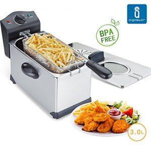 Aigostar Ushas 30HEZ – Semi-professionelle Fritteuse, Edelstahl, 2200 Watt, 3 Liter. Garantie und Qualität. BPA-frei.