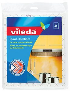 Vileda Dunst-Flachfilter – Für frische, saubere Küchenluft – Universalformat – 2er Pack
