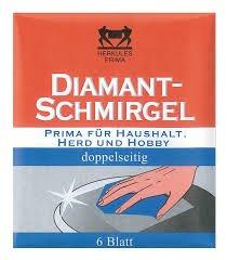Diamant-Schmirgel Hercules doppelseitig für Haushalt, Herd & Hobby 6 Stück