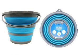 Zusammenklappbarer tragbarer Haushaltsbehälter -Eimer – zur Aufnahme von bis zu 10 Liter Wasser – Gut geeignet für Erfordernisse der Haushalts-Reinigung – Putzeimer aber auch für Outdoors, Fischen & Camping.