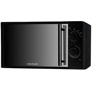 Cecotec All Black Mikrowelle mit Frontspiegel, Input 1.200W, Output 700W, 20L, 6Ebenen, Schwarz