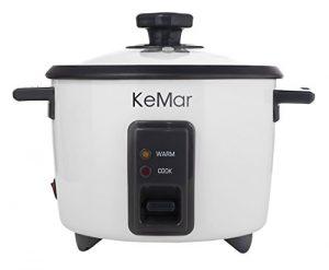 KeMar KRC-110 Reiskocher / Dampfgarer mit automatischer Warmhaltefunktion und Dämpfeinsatz, BPA-frei
