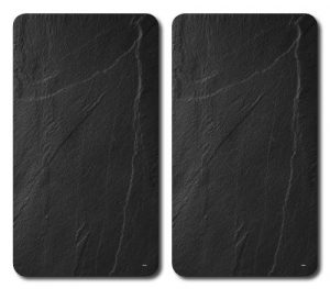 Kesper 3652313 Multi-Glasschneideplatte Schiefer, Gehärtetes ESG-Sicherheitsglas, 52 x 30 x 3 cm