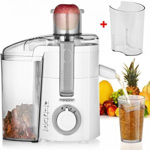Monzana® Entsafter Saftpresse Edelstahl Presse Frucht Obstpresse Fruchtentsafter ✔670 W ✔extra große Öffnung ✔bis 20000 U/min ✔inkl. extra Saftbehälter