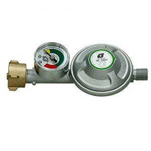 ECD Germany 50 mbar Druckminderer mit Manometer Gasdruckregler