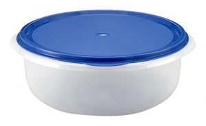 axentia Teigschüssel mit Plopp-Deckel – Hefeteigschüssel rund  – Schüssel transparent – Salatschüssel groß – Plastikschüssel 6 Liter – Kunststoffschüssel flach & verschließbar, spülmaschinenfest