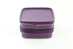 TUPPERWARE To Go Lunchbox 550 ml (2) dunkellila Trennwand Brotbox clevere Pause FBA 17622