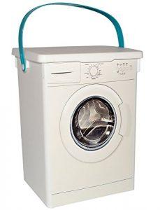 """"""" Waschmittel """" – Vorratsdose / Aufbewahrungsbox – für Waschmaschine & Geschirrspüler – 5 l – aus Kunststoff / Waschpulverbox – Waschmittelbehälter – Dose – Box & Kiste – Waschpulver Waschmitteldose – Badezimmer / Küche / Bad – Kiste mit Deckel – Pulver & Tabs"""