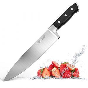 Homgeek Kochmesser Küchenmesser Chefmesse 20 cm Allzweckmesser, Gemüsemesser, Messer aus Edelstahl mit Scharfer Klinge
