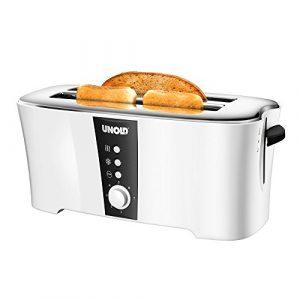 Unold 38020 Design Dual, 4-Scheiben-Doppel-Langschlitz-Toaster, 1.350 W,Wärmeisoliertes Cool-Touch-Gehäuse, 1350 watts, weiß