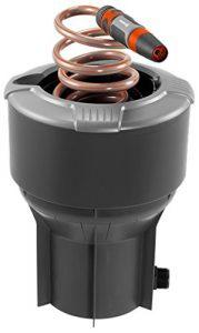 Gardena 8253-20 Schlauchbox Pipeline; mit Spiralschlauch; wird im Boden installiert; Wasserstop am Ende des Spiralschlauchs (Zur Reinigung oder Bewässerung; 1″ Außengewinde; Schlauchlänge: 10m)