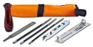 Arnold 1194-X1-0030 Feilenkit zum Schärfen von Sägeketten verpackt in Rolle