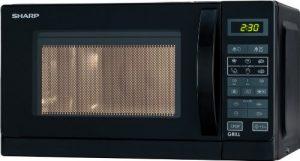 Sharp Electronics R642BKW Mikrowelle / 800W / digitale Steuerung / Grill-Funktion / Auftauprogramm / Automatikprogramme / Garraumbeleuchtung / Schnellstart / Zeitschaltautomatik / Kindersicherung / Grill